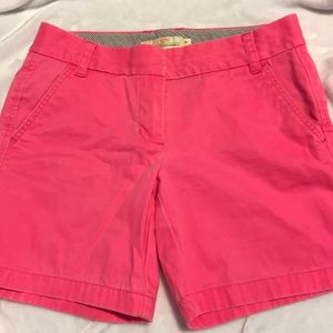 hot pink j crew chino shorts size 4
